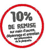 forage pompage : 10% de remise